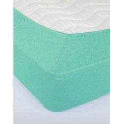Простынь на резинке махровая 160х200х25 Бирюзовая