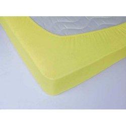 Простынь на резинке махровая 160х200х25 Жёлтая