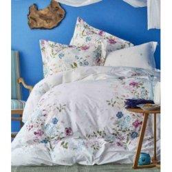 Летнее постельное бельё пике Karaca Home ранфорс Eleta Fusya