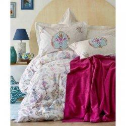 Летнее постельное бельё пике Malia Turkuaz