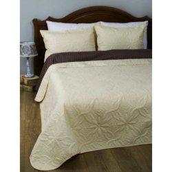 Стёганое покрывало на кровать Lotus Broadway Кремовое
