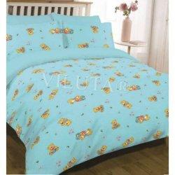 Детское постельное бельё Вилюта 6112 Медвежата голубые