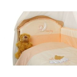 Бампер на кроватку «Маленькая Соня» + простынь на резинке