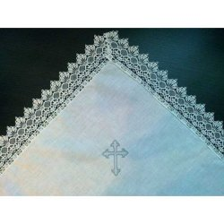Крыжма для крещения Хлопок серебро