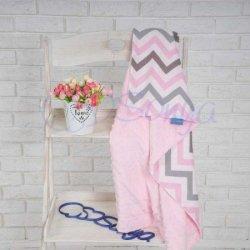 Плед детский Minky Premium Indigo розовый