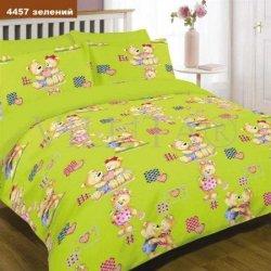 """Детское постельное белье """"Влюбленные мишки"""" зеленый"""
