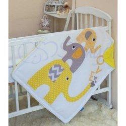 Плед детский Желтые слоники