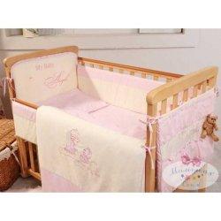 Бампер на кроватку «Ангел» + карман для мелочей