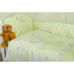 Набор в кроватку «Мишки и звезды» Малыш Lux