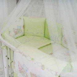 Детский комплект сменный Green на овальную кроватку