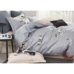 Детское постельное белье «Миккимаус серый»