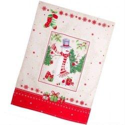 Полотенце вафельное «Снеговик»