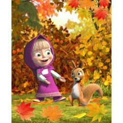Полотенце махровое «Осень»
