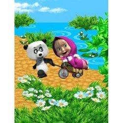 Полотенце махровое «Панда в гостях»