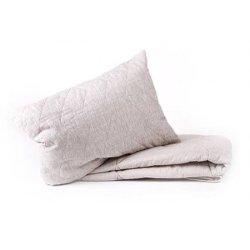 Подушка стеганая льняная ТМ Хеппи Лён