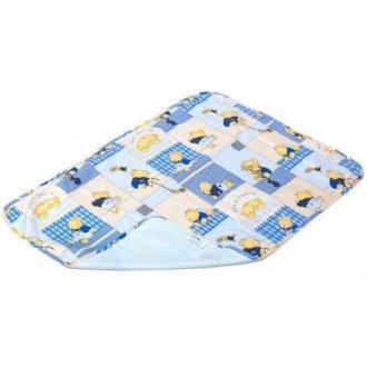 Пеленка непромокаемая Бязь Premium Blue