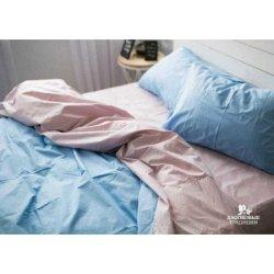 Постельное белье Хлопковые Традиции поплин PF005 пудрово-голубое