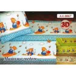 Детское постельное белье «Мишки с медом»