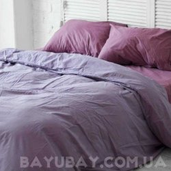 Постельное белье Хлопковые Традиции поплин PF025 фиолетовое с лиловым