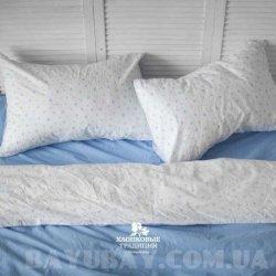 Постельное белье Хлопковые Традиции поплин PF055 голубое
