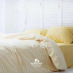 Постельное белье Хлопковые Традиции поплин PF058 жёлтое