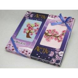 Набор вафельных полотенец «Сакура» Activ
