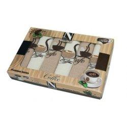 Набор кухонных полотенец «Кофе с печеньем»