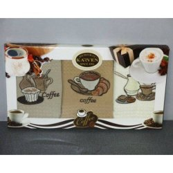 Набор кухонных полотенец «Кофе люкс» Karven
