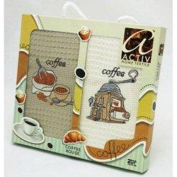 Набор вафельных полотенец «Кофе» Activ