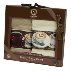 Набор махровых полотенец Saten Terry «Кофе»