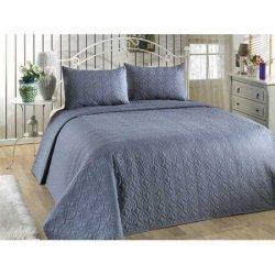 Покрывало на кровать + 2 наволочки Senevo Indigo Mavi