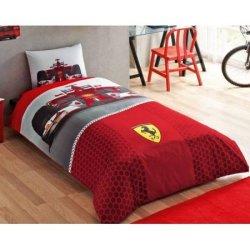 Полуторный подростковый комплект постельного белья «Ferrari F1 Race»