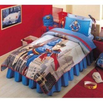 Одеяло стёганое + комплект постельного белья «Disney Superman»