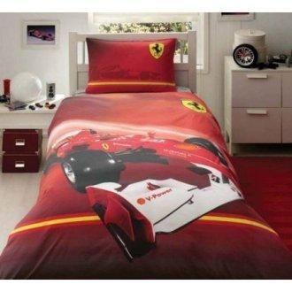 Полуторный подростковый комплект постельного белья «Ferrari»