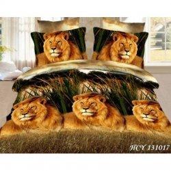 Постельное белье евро «Царь зверей»