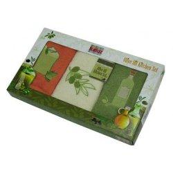 Набор хлопковых кухонных полотенец полотенец «Olive»