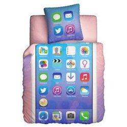 Полуторный подростковый комплект постельного белья «Glamour Phone»