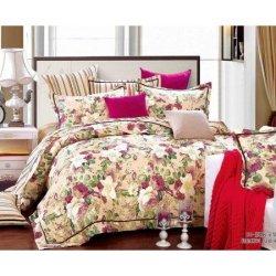 Евро комплект постельного белья «Flower-garden»