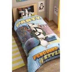 Детское постельное «Penguins party»