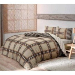 Фланелевое постельное белье TAC Avita Camel