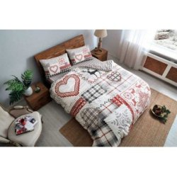 Фланелевое постельное бельё TAC Savina Red