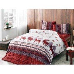 Фланелевое постельное бельё Snow Red