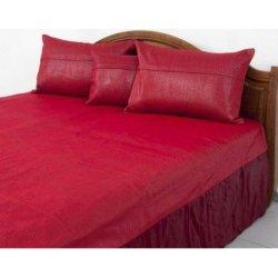 Покрывало на кровать Tac с наволочками Every Day - Ferre красное