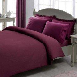 Постельное бельё евро Stripe Фиолетовый
