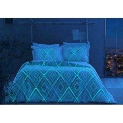 Светящееся постельное бельё TAC сатин Gina Mavi евро