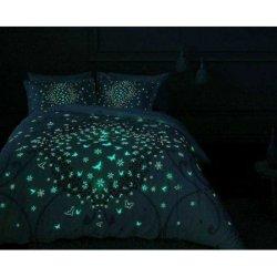 Светящееся постельное бельё Tac сатин Glow Molly Lila