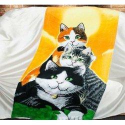 Пляжное полотенце Cats