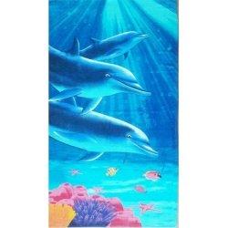 Детское пляжное полотенце Дельфины