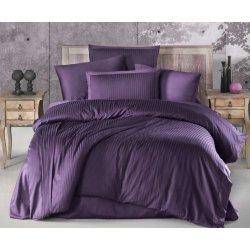 Постельное бельё Ecosse VIP сатин страйп Purple фиолетовый евро