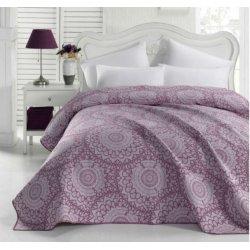 Жаккардовое покрывало Eponj Home Mandala mor фиолетовое 200*230